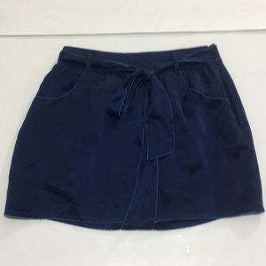 Forever 21 navy blue satin skirt